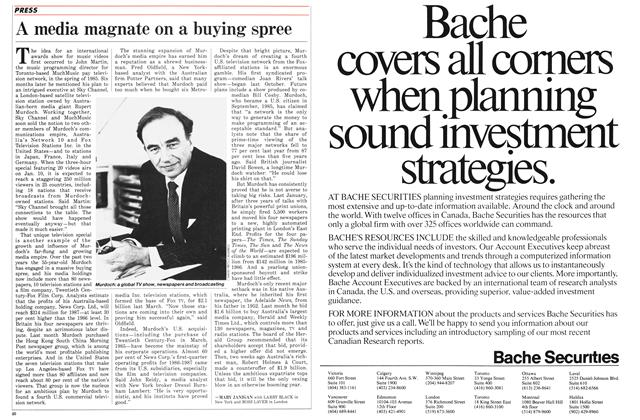 Article Preview: A media magnate on a buying spree, January 1987 | Maclean's