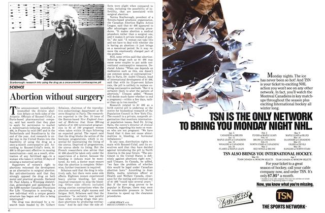 Article Preview: Abortion without surgery, January 1987 | Maclean's