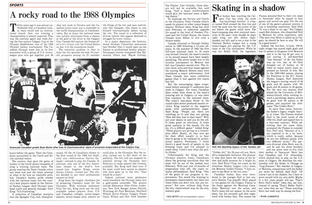 Article Preview: A rocky road to the 1988 Olympics, January 1987 | Maclean's