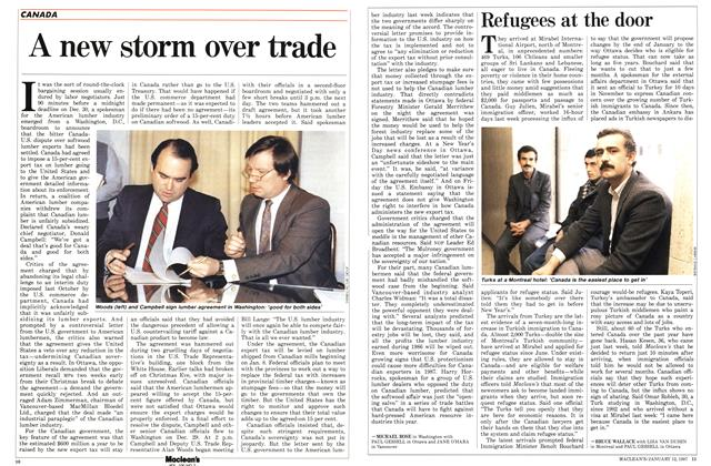 Article Preview: Refugees at the door, January 1987 | Maclean's