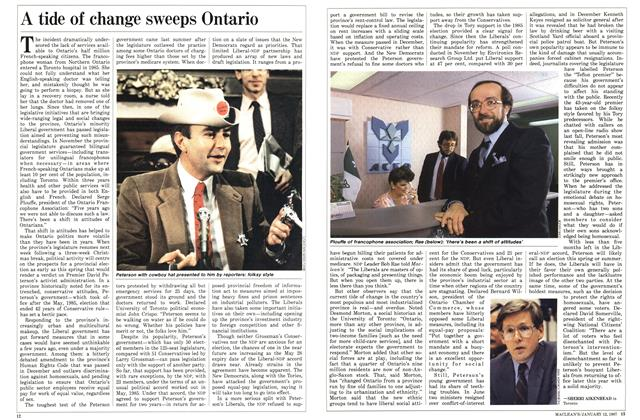 Article Preview: A tide of change sweeps Ontario, January 1987 | Maclean's