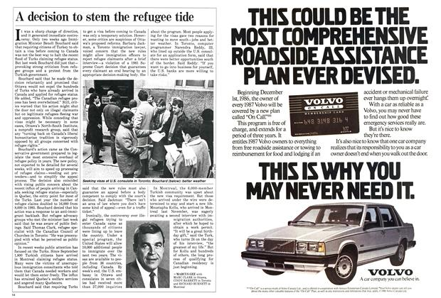 Article Preview: A decision to stem the refugee tide, January 1987 | Maclean's