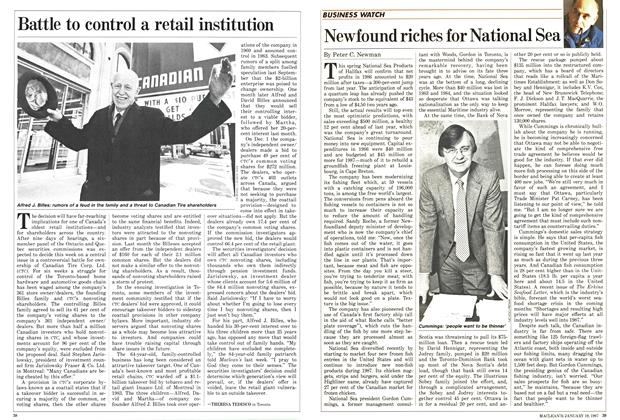 Article Preview: Newfound riches for National Sea, January 1987 | Maclean's