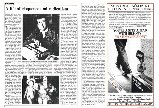 Article Preview: A life of eloquence and radicalism, January 1987 | Maclean's