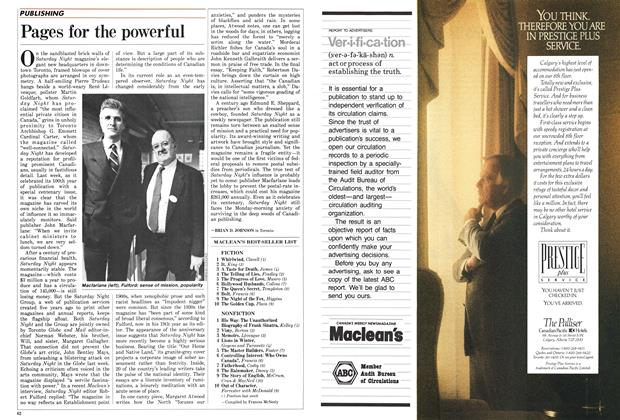 Article Preview: Pages for the powerful, January 1987 | Maclean's