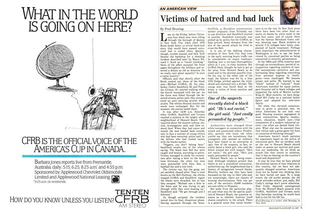 Article Preview: Victims of hatred and bad luck, January 1987 | Maclean's