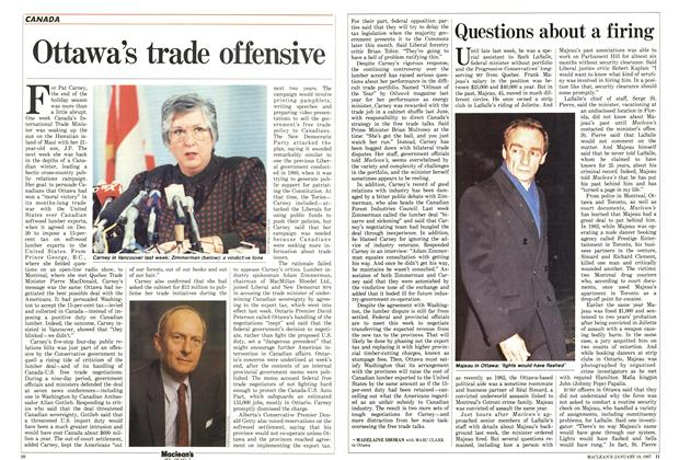 Article Preview: Ottawa's trade offensive, January 1987 | Maclean's