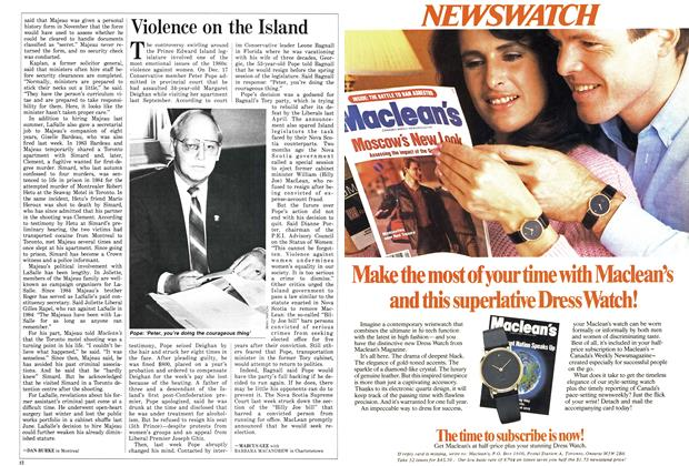 Article Preview: Violence on the Island, January 1987 | Maclean's