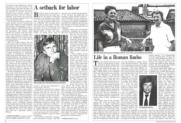 Article Preview: Life in a Roman limbo, January 1987 | Maclean's