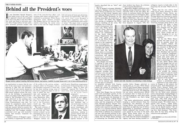 Article Preview: Behind all the President's woes, January 1987 | Maclean's