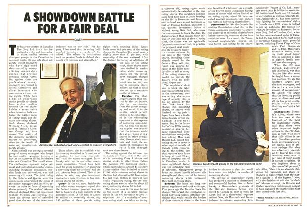 Article Preview: A SHOWDOWN BATTLE FOR A FAIR DEAL, January 1987 | Maclean's