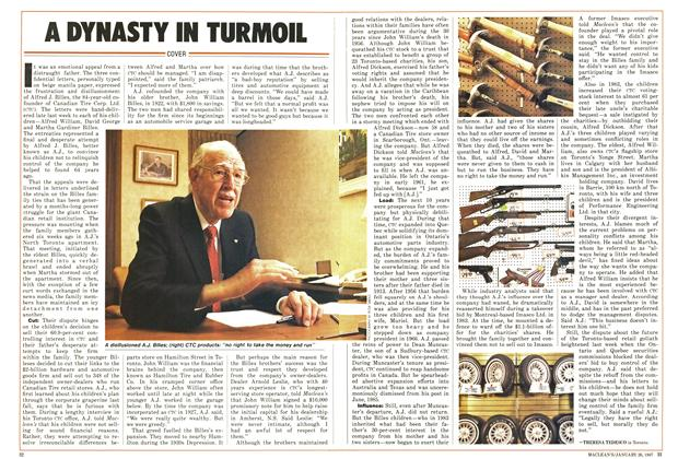 Article Preview: A DYNASTY IN TURMOIL, January 1987 | Maclean's
