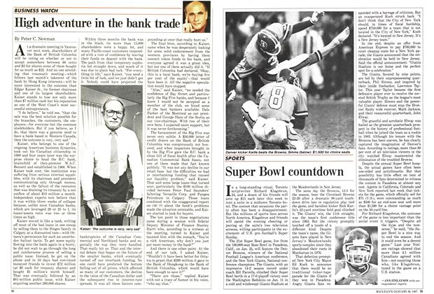Article Preview: High adventure in the bank trade, January 1987 | Maclean's