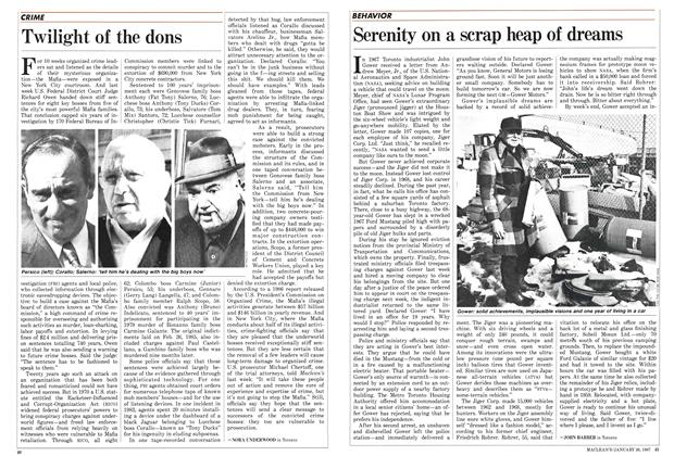 Article Preview: Twilight of the dons, January 1987 | Maclean's