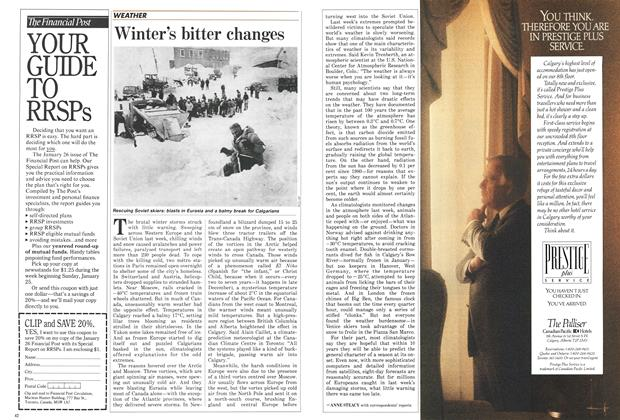 Article Preview: Winter's bitter changes, January 1987 | Maclean's