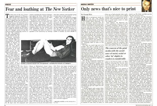 Article Preview: Only news that's nice to print, January 1987 | Maclean's