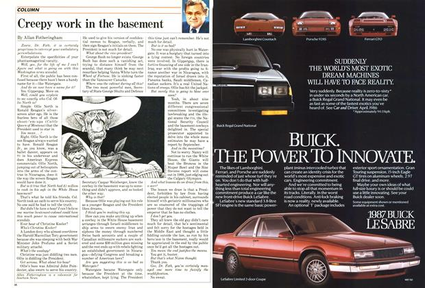 Article Preview: Creepy work in the basement, January 1987 | Maclean's