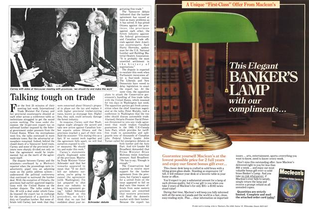 Article Preview: Talking tough on trade, January 1987 | Maclean's