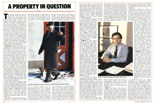 Article Preview: A PROPERTY IN QUESTION, February 1987 | Maclean's