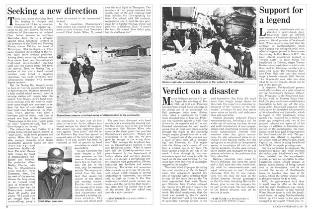 Article Preview: Verdict on a disaster, February 1987 | Maclean's