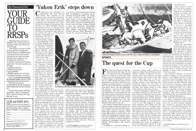 Article Preview: The quest for the Cup, February 1987 | Maclean's