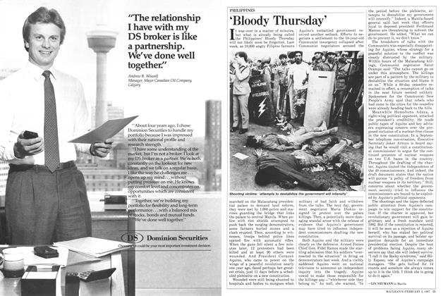 Article Preview: 'Bloody Thursday', February 1987 | Maclean's
