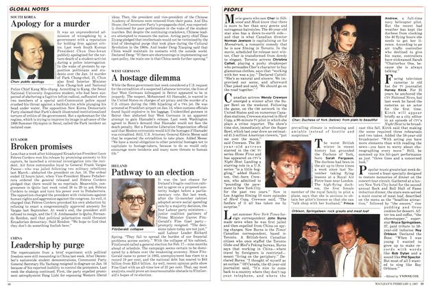 Article Preview: Elegance on the rise, February 1987 | Maclean's
