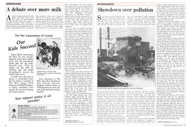 Article Preview: A debate over more milk, February 1987 | Maclean's