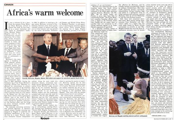 Article Preview: Africa's warm welcome, FEBRUARY 9,1987 1987 | Maclean's