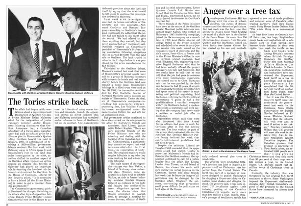 Article Preview: The Tories strike back, FEBRUARY 9,1987 1987 | Maclean's