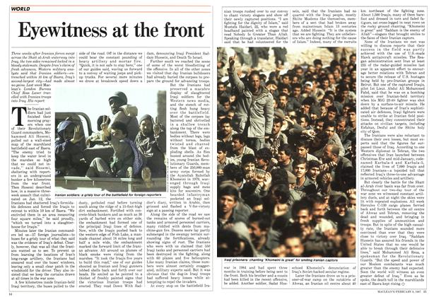 Article Preview: Eyewitness at the front, FEBRUARY 9,1987 1987 | Maclean's