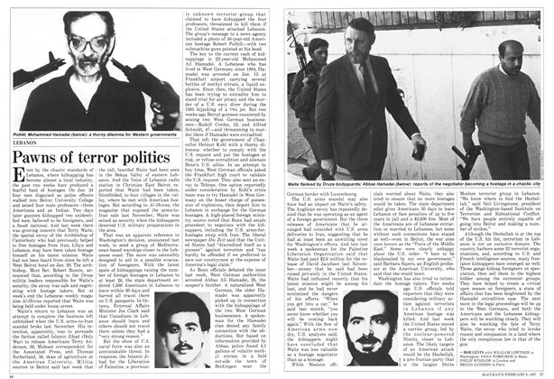 Article Preview: Pawns of terror politics, FEBRUARY 9,1987 1987 | Maclean's