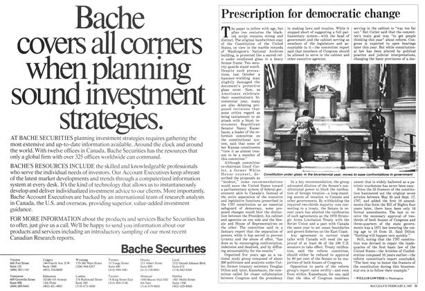 Article Preview: Prescription for democratic change, FEBRUARY 9,1987 1987   Maclean's