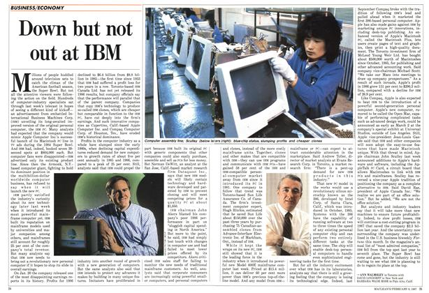 Article Preview: Down but not out at IBM, FEBRUARY 9,1987 1987 | Maclean's