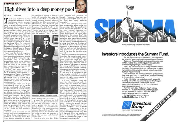 Article Preview: High dives into a deep money pool, FEBRUARY 9,1987 1987 | Maclean's