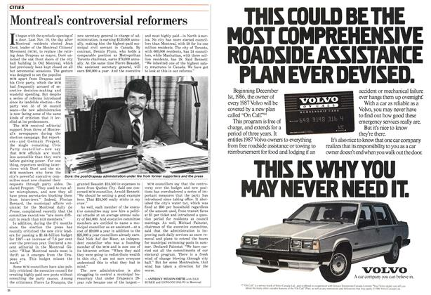 Article Preview: Montreal's controversial reformers, FEBRUARY 9,1987 1987 | Maclean's