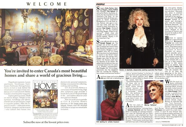 Article Preview: PEOPLE, FEBRUARY 9,1987 1987 | Maclean's