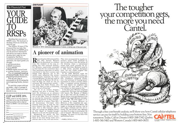 Article Preview: A pioneer of animation, FEBRUARY 9,1987 1987 | Maclean's