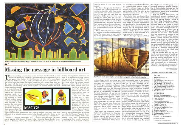 Article Preview: Missing the message in billboard art, FEBRUARY 9,1987 1987 | Maclean's