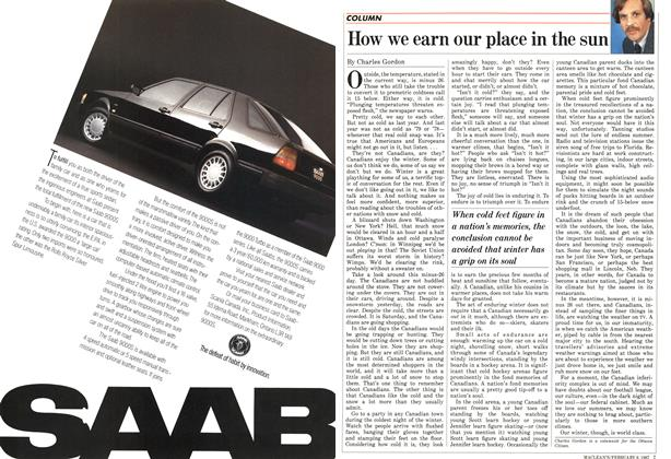 Article Preview: How we earn our place in the sun, FEBRUARY 9,1987 1987 | Maclean's