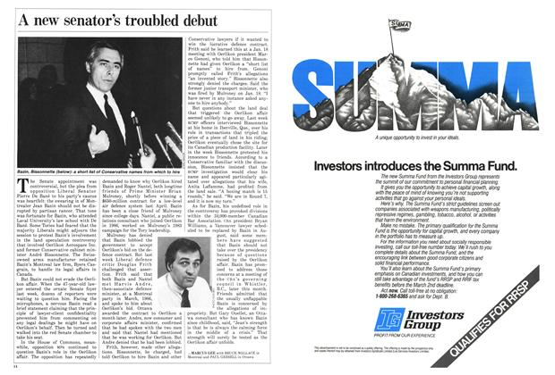 Article Preview: A new senator's troubled debut, February 1987 | Maclean's
