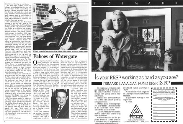 Article Preview: Echoes of Watergate, February 1987 | Maclean's