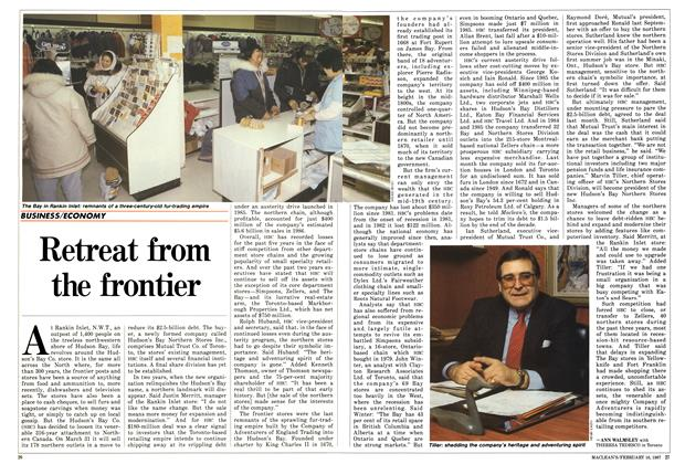 Article Preview: Retreat from the frontier, February 1987 | Maclean's