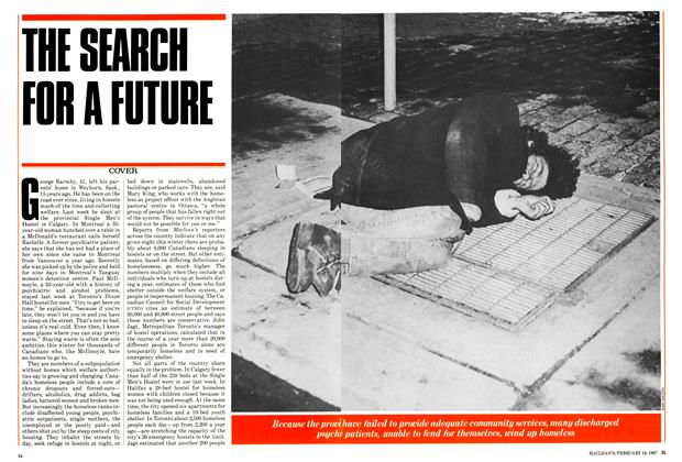 Article Preview: THE SEARCH FOR A FUTURE, February 1987 | Maclean's