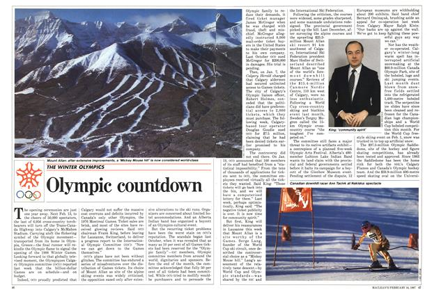 Article Preview: Olympic countdown, February 1987 | Maclean's