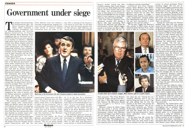 Article Preview: Government under siege, February 1987 | Maclean's