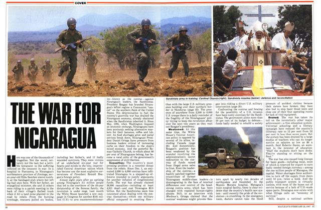 Article Preview: THE WAR FOR NICARAGUA, February 1987 | Maclean's