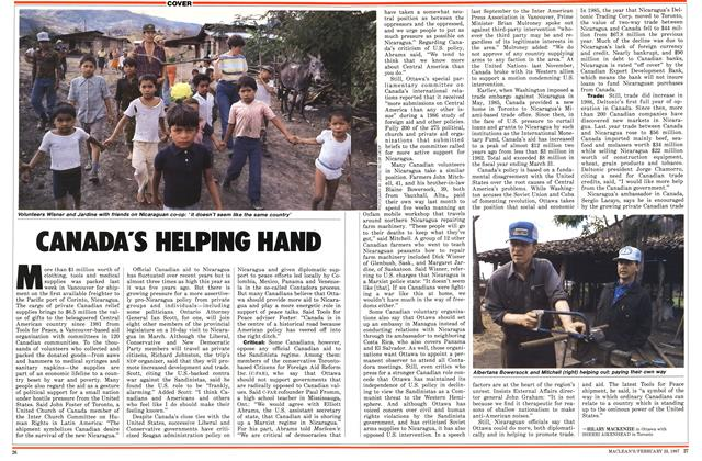 Article Preview: CANADA'S HELPING HAND, February 1987 | Maclean's