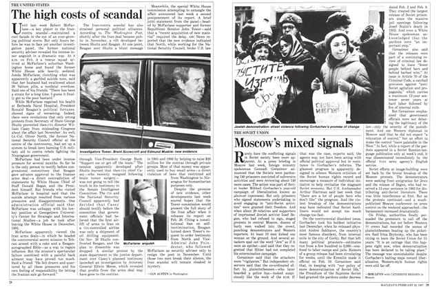Article Preview: The high costs of scandal, February 1987 | Maclean's