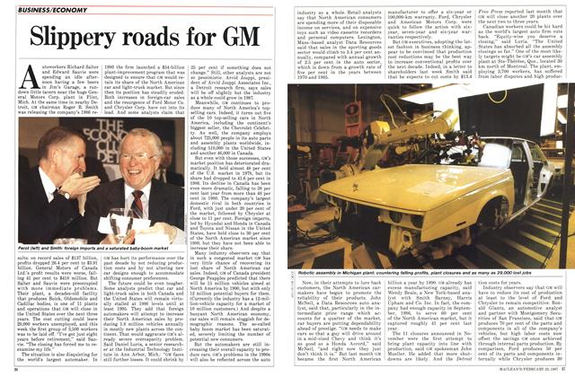Article Preview: Slippery roads for GM, February 1987 | Maclean's